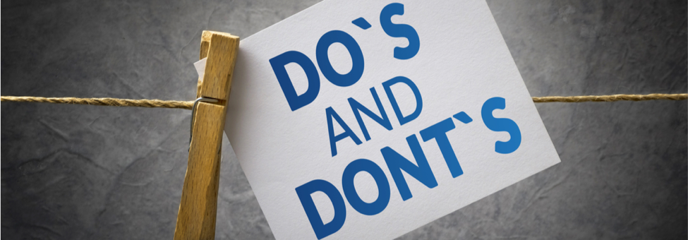 Do's & Don't - Masters Heating