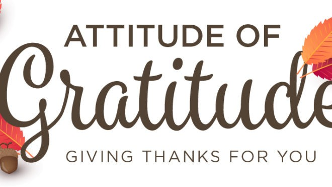 HELP US SPREAD THE ATTITUDE OF GRATITUDE